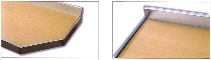 Produzione di tops tavoli mensole alzatine schienali su for Alzatina top cucina bricoman